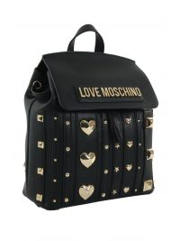 LOVE MOSCHINO ΤΣΑΝΤΑ BACKPACK ΤΡΟΥΚΣ ΜΠΡΟΣΤΑ ΜΑΥΡΟ