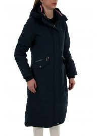 TOMMY HILFIGER ΜΠΟΥΦΑΝ TH ESSENTIAL LONG PADDED PARKA WATER REPELLENT ΚΟΥΚΟΥΛΑ ΜΠΛΕ