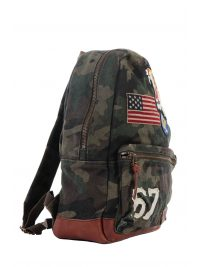 RALPH LAUREN ΤΣΑΝΤΑ BACKPACK CAMOUFLAGE MULTI ΠΡΑΣΙΝΟ