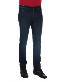 BOSS CASUAL ΠΑΝΤΕΛΟΝΙ JEANS DELAWARE BC-L-P JOIN SLIM FIT KNIT DENIM ΜΠΛΕ
