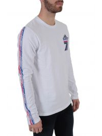 SUPERDRY T-SHIRT ΣΤΑΜΠΑ DOWNHILL RACER ΛΕΥΚΟ