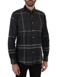 BARBOUR ΠΟΥΚΑΜΙΣΟ BUTTON DOWN TAILORED FIT ΚΑΡΩ DUNOON ΑΝΘΡΑΚΙ