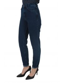 TOMMY HILFIGER ΠΑΝΤΕΛΟΝΙ JEANS GRAMERCY TAPERED FIT HIGH WAIST ANKLE LENGTH ΜΠΛΕ