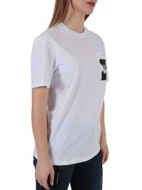KARL LAGERFELD T-SHIRT LEGEND POCKET ΛΕΥΚΟ