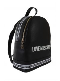 LOVE MOSCHINO ΤΣΑΝΤΑ BACKPACK LOGO ΜΑΥΡΟ/ΛΕΥΚΟ