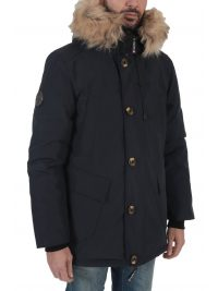 SUPERDRY ΜΠΟΥΦΑΝ PARKA ROOKIE DOWN ΜΠΛΕ
