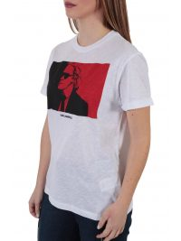 KARL LAGERFELD T-SHIRT LEGEND COLORBLOCK ΛΕΥΚΟ
