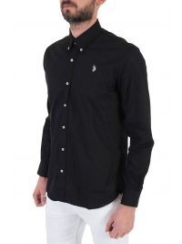 U.S. POLO ASSN ΠΟΥΚΑΜΙΣΟ BUTTON DOWN REGULAR FIT KUSTAVI ΜΑΥΡΟ