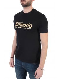 EMPORIO ARMANI T-SHIRT LOGO THE EAGLE BRAND ΜΑΥΡΟ