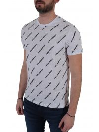 KARL LAGERFELD T-SHIRT ALL OVER PRINT LOGO ΛΕΥΚΟ