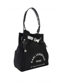 KARL LAGERFELD ΤΣΑΝΤΑ  BAGPACK RUE ST.GUILIAUME MEDIUM HOBO ΜΑΥΡΟ