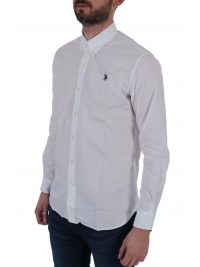 U.S. POLO ASSN ΠΟΥΚΑΜΙΣΟ BUTTON DOWN REGULAR FIT KUSTAVI ΛΕΥΚΟ