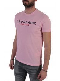 U.S. POLO ASSN T-SHIRT INSTITUTIONAL ΡΟΖ