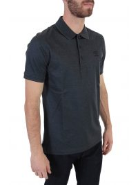 PAUL&SHARK POLO LOGO DOUBLE MERCERIZED ΑΝΘΡΑΚΙ