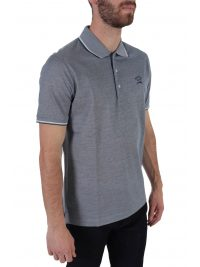 PAUL&SHARK POLO LOGO DOUBLE MERCERIZED ΜΠΛΕ