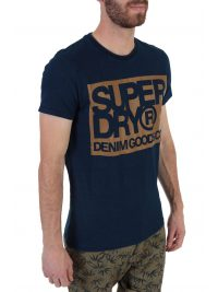 SUPERDRY T-SHIRT DENIM GOODS CO PRINT ΜΠΛΕ