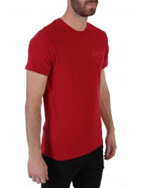 SUPERDRY T-SHIRT PREMIUM GOODS TONAL INJECTION ΚΟΚΚΙΝΟ