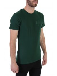 SUPERDRY T-SHIRT PREMIUM GOODS TONAL INJECTION ΠΡΑΣΙΝΟ