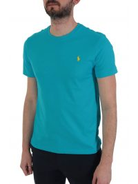 RALPH LAUREN T-SHIRT  LOGO CUSTOM SLIM FIT ΤΥΡΚΟΥΑΖ