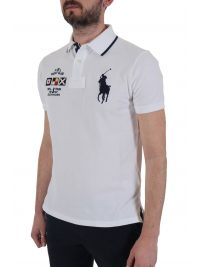 RALPH LAUREN POLO  BIG PONY CUSTOM SLIM FIT ΛΕΥΚΟ