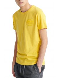 SUPERDRY T-SHIRT PREMIUM GOODS TONAL INJECTION ΚΙΤΡΙΝΟ