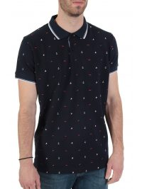 DORS POLO PIQUET FINE TOUCH ALL OVER PRINT ΜΠΛΕ