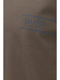 BOSS BUSINESS T-SHIRT CREW NECK PURE COTTON ΓΚΡΙ