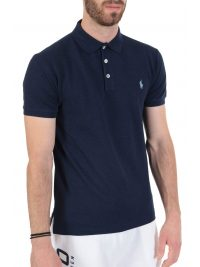 RALPH LAUREN POLO SLIM FIT STRETCH MESH  ΜΠΛΕ