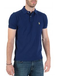 RALPH LAUREN POLO CUSTOM SLIM FIT  ΜΠΛΕ