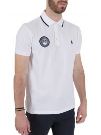 RALPH LAUREN POLO  LOGO P1 CUSTOM SLIM FIT ΛΕΥΚΟ