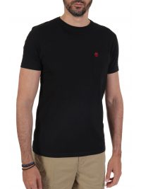 TIMBERLAND T-SHIRT SLIM FIT POCKET LOGO ΜΑΥΡΟ