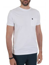 TIMBERLAND T-SHIRT SLIM FIT POCKET LOGO  ΛΕΥΚΟ