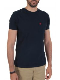 TIMBERLAND T-SHIRT SLIM FIT POCKET LOGO  ΜΠΛΕ