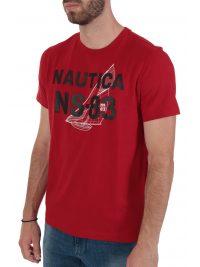 NAUTICA T-SHIRT  NS 83 ΚΟΚΚΙΝΟ
