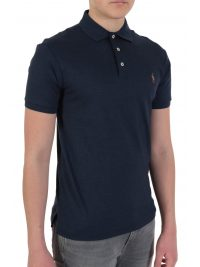 RALPH LAUREN POLO  LOGO  SLIM FIT  ΜΠΛΕ