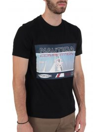 NAUTICA T-SHIRT  COMPETITION STRETCH ΜΑΥΡΟ