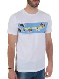 KARL LAGERFELD T-SHIRT ORCHID ΛΕΥΚΟ