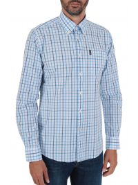 BARBOUR ΠΟΥΚΑΜΙΣΟ  BUTTON DOWN TAILORED FIT ΚΑΡΩ TATERSALL ΣΙΕΛ