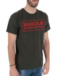 BARBOUR INTERNATIONAL T-SHIRT TAILORED FIT  ESSENTIAL LARGE LOGO ΧΑΚΙ