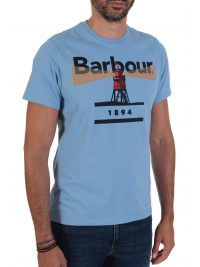 BARBOUR T-SHIRT TAILORED FIT LIGHTHOUSE ΣΙΕΛ