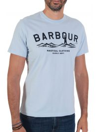BARBOUR T-SHIRT TAILORED FIT BREESAY ΣΙΕΛ