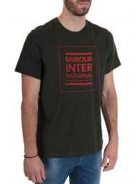 BARBOUR  INTERNATIONAL T-SHIRT TAILORED FIT STRIKE ΧΑΚΙ