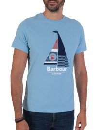 BARBOUR  T-SHIRT TAILORED FIT SAIL ΣΙΕΛ