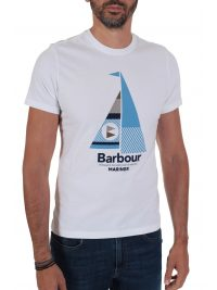 BARBOUR  T-SHIRT TAILORED FIT SAIL ΛΕΥΚΟ