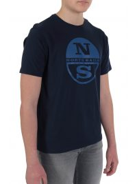 NORTH SAILS T-SHIRT BIG LOGO REGULAR FIT ΜΠΛΕ