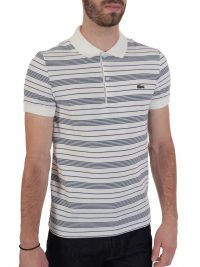 LACOSTE POLO REGULAR FIT ΜΑΡΙΝΙΕΡΑ ΛΕΥΚΟ