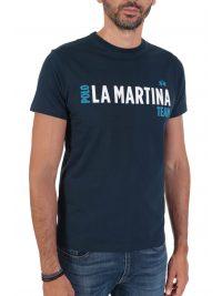 LA MARTINA T-SHIRT REGULAR FIT LOGO ΜΠΛΕ