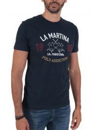 LA MARTINA T-SHIRT REGULAR FIT LOGO ΜΠΛΕ