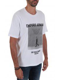 EMPORIO ARMANI T-SHIRT LOGO ΛΕΥΚΟ