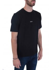 BOSS CASUAL T-SHIRT  TCHUP ΜΑΥΡΟ